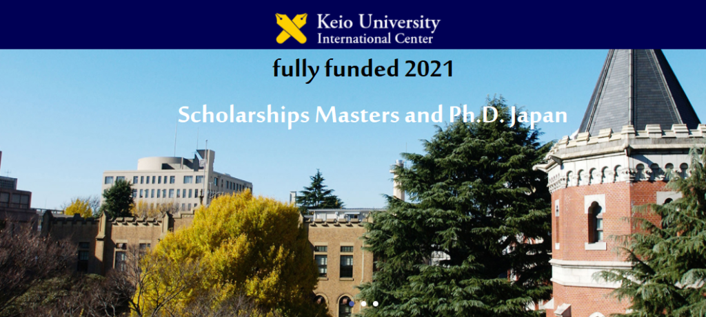 Keio University scholarships masters and Ph.D. Japan fully ...