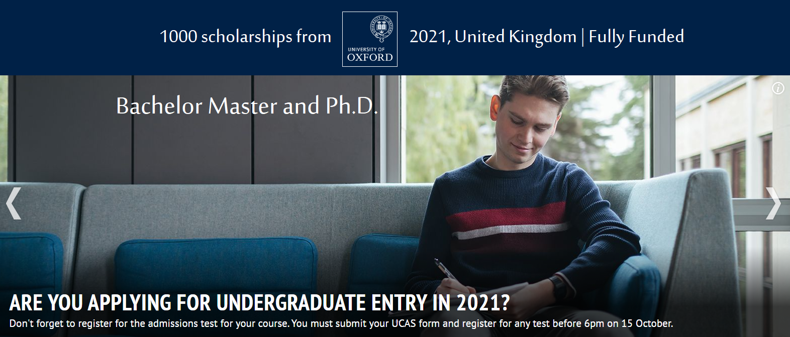 Rich Oxford Scholarships Bachelor Master and Ph.D. 2021 ...